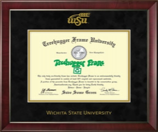 WSU Diploma Single Black Suede 1