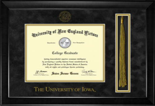 University of Iowa Diploma Tassel Frame 7041