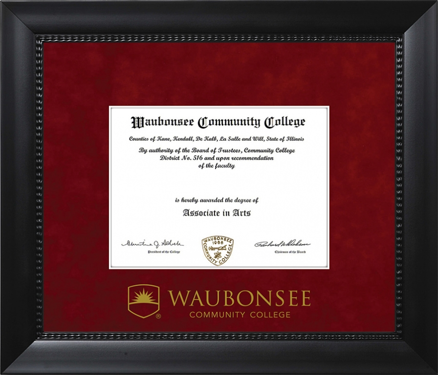 Waubonsee Community College Diploma Frame 8012